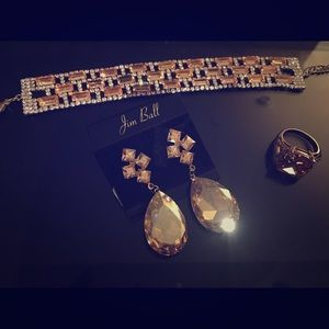 Jewelry - Matching bracelet, earrings and ring